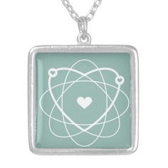 Atom Love. Wedding Edition. Special Silver Necklace. #geek #wedding #love
