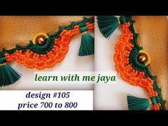 ಸೀರೆ ಕುಚ್ಚು petal saree kuchu videos for beginners . Saree Kuchu New Designs, Saree Tassels Designs, Pattu Saree Blouse Designs, Saree Blouse Patterns, Saree Border, Kendall Jenner Outfits, Victoria Dress, Hand Designs, Flower Petals