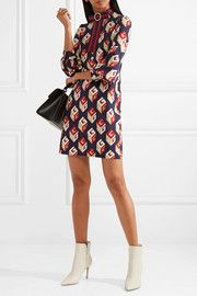 Gucci GG wallpaper Dress- With Tags Black Silk Dress, Black Blouse, Gucci Floral, Gucci Dress, Ruched Dress, Top Designer Brands, Printed Skirts, Mini, Fashion Online