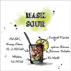 Der erste #Cocktail den wir euch präsentieren ist der MASK Sour.   Was ihr dafür benötigt und wie er zubereitet wird findet ihr hier:  http://happyhour.mask-energy.com/MASK-Sour.pdf  Um euch euren benötigten Energy Kick für diesen Cocktail zu beschaffen, schaut in unserem #OnlineShop vorbei:   http://shop.mask-energy.com/startseite/mask-energy-drink-24x250ml-pfandfrei.html  Selbstverständlich haben wir bei MASK diese Cocktails ausprobiert und mit unserem MASK #Gütesiegel versehen