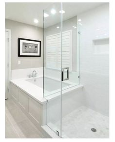 Master Bathroom Shower, Modern Master Bathroom, Vanity Bathroom, Modern Bathrooms, Master Bathroom Layout, Bathroom Tubs, Modern Bathtub, Condo Bathroom, Bathroom Black