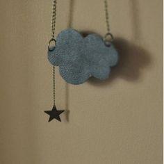 Sautoir nuage cuir by Anne/lison