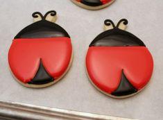 Simple Ladybug Cookies