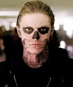 Evan Peters (Look at how beautiful the make-up is! Holy Wisconsin cheese!)