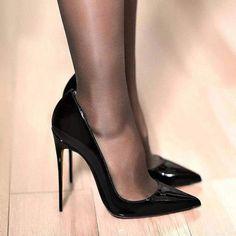 2019 High Heels, Womens Pointed Toe Slip on Stilettos Party Wedding Pumps Basic Shoes Black High Heels, Womens Pointed Toe Slip auf Stilettos Party – Sunysn Hot Heels, Nylons Heels, Black Pantyhose, Sexy Heels, Black High Heels, High Heels Stilettos, High Heel Boots, Shoes Heels Pumps, Classy Heels