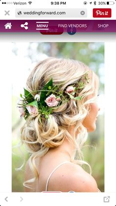 Floral Updo - Pink Flowers
