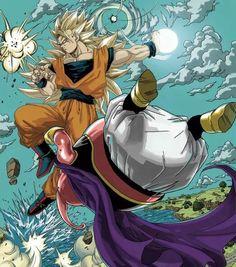 Goku ss3 vs Majin Buu | #dbz