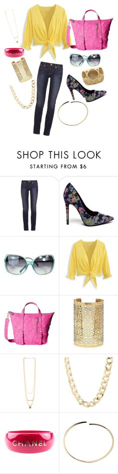 """""""summer fun"""" by victoria-rowan ❤ liked on Polyvore featuring Tory Burch, Chanel, Steve Madden, Forever 21, Charlotte Russe and Maison Margiela"""
