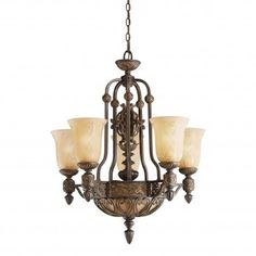 Chandelier 2754-23, Collection Sebastian, Style European, 5 ampoules Chandelier, Ceiling Lights, Lighting, Collection, Home Decor, Style, Ceiling, Swag, Candelabra