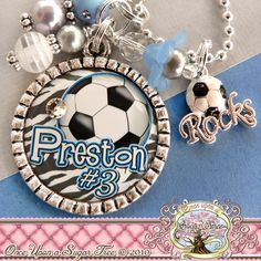 I WANT ONE!   SOCCER NECKLACE Custom Team Colors Number by onceuponasugartree, $18.00