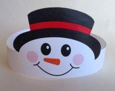 snowman headband craft idea for kids