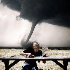 The Epic Tornado Behind That Guy Shot