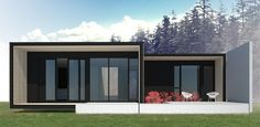 The Trapper from Form & Forest, modern prefab cabins. 738 sf