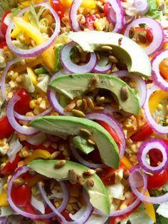 Southwestern Salad with Cilantro Jalapeno Dressing