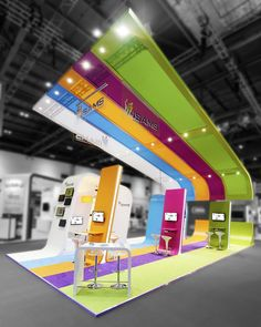 Exhibition stand design - our goal is to take your project and realise it in a way that meets and exceeds your expectations. We deliver solutions to make the exhibiting process easy, enjoyable and above all successful. Exhibition Stand Design, Exhibition Plan, Exhibition Stall, Exhibition Room, Design Stand, Trade Show Design, Display Design, Design Design, Graphic Design