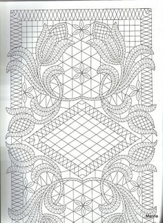 Lace Express 2008-01 - Ana B.F - Picasa Web Album Bobbin Lace Patterns, Weaving Patterns, Embroidery Patterns, Bead Crochet, Irish Crochet, Pin Weaving, Romanian Lace, Bobbin Lacemaking, Whole Cloth Quilts