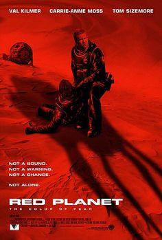 """""""Planeta Rojo"""" (""""Red Planet"""", 2000). Dir. Antony Hoffman. Stars: Val Kilmer, Carrie-Anne Moss, Tom Sizemore, Benjamin Bratt, Simon Baker, Terence Stamp."""