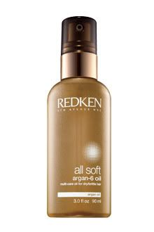 Redken Argan-6, six different circumstances you can use this. I use mine with total recharge from the color extend line while my hair is towel dried after I get out of the shower then I blow dry, my hair has never been softer!