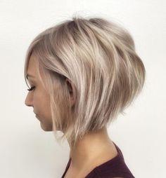 Short Choppy Haircuts, Haircuts For Thin Fine Hair, Short Hairstyles Fine, Blonde Bob Hairstyles, Short Choppy Bobs, Short Pixie Bob, Choppy Cut, Short Layers, Short Cuts