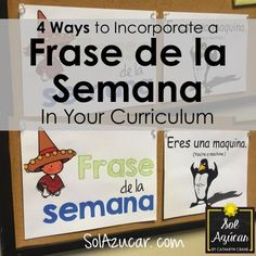 Sol Azúcar by Catharyn Crane: Incorporating a Frase de la Semana in the Spanish Classroom using skits and spontaneous conversation Learning Spanish For Kids, Spanish Activities, Teaching Spanish, Spanish Games, Class Activities, Spanish Lesson Plans, Spanish Lessons, Learn Spanish, Spanish 1