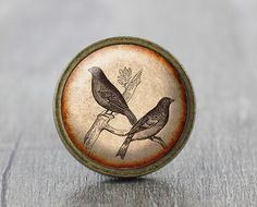 Bird  Vintage Antique Bronze Dresser Knobs Cabinet by jade4wood, $6.20
