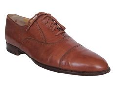 WALTER NEWBERGER for Wilkes Bashford Mens Oxford Shoes Leather Brown Size 11 #WalterNewberger #Oxfords #Formal