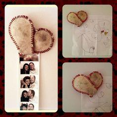 Baseball Heart Magnet, Magnet, Sports Magnet, Sports Decor, Kitchen Decor, Baseball, Valentine's Day, Gift Idea.