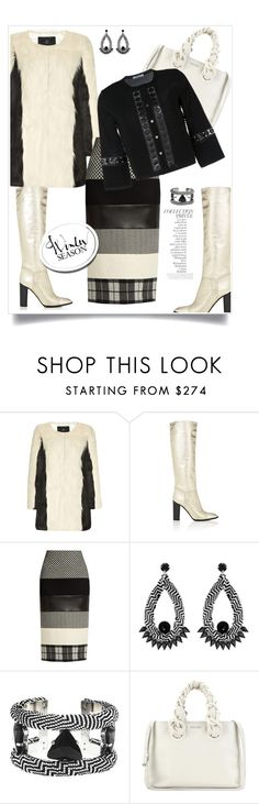"""""""..."""" by hani-bgd ❤ liked on Polyvore featuring Unreal Fur, Marc Jacobs, MaxMara, Forest of Chintz, Miu Miu, Blumarine, By Terry, WorkWear and Winter"""