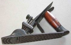 From Patrick Leach. Woodworking Hand Planes, Antique Woodworking Tools, Antique Tools, Old Tools, Vintage Tools, Woodworking Projects, Wood Plane, Hunting Humor, Blacksmithing