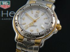 TAG Heuer 6000 Full size Man 18K Gold/ Stainless steel whithe dial WH1151-K1