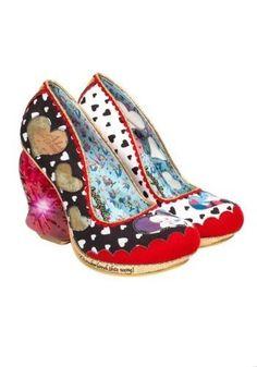 9f840cbf206 Alice in Wonderland shoes Women s Pointed Toe Low Heel Pumps (Model 053)
