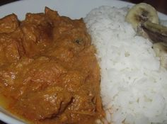 Colombo de joues de porc, cuisine créole Island Food, Mashed Potatoes, Side Dishes, Cooking Recipes, Beef, Meals, Chicken, Ethnic Recipes, Desserts