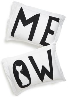 Pin for Later: 70+ Purr-fect Gifts For the Cat Ladies in Your Life Pillow Shams I Speak Cat Pillow Sham Set ($30)