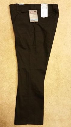 Dickies NWT Womens Relaxed Fit Stretch Twill Black Pants Sz 6P-18P  6R-18R #Dickies #CasualPants