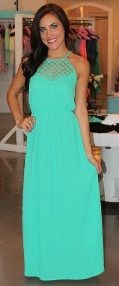 Dottie Couture Boutique - Cut Out Braided Maxi, $46.00 (http://www.dottiecouture.com/kelly-green-braided-maxi/)