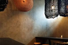 Betonlook Utrecht | Restaurant Yoepz in Utrecht. Uitgevoerd met Marrakech Walls - betonlook van Pure and Original. Ontwerp door Cabana Interior. lees verder op http://brsh.nl/portfolio_page/betonlook-utrecht/