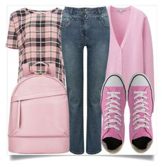 """""""School Style"""" by madeinmalaysia ❤ liked on Polyvore featuring Equipment, Want Les Essentiels de la Vie, Uniqlo, M&Co and UGG Australia"""