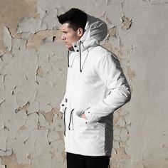 Backyard Cartel kurtka jacket Parka Long Inset white QUICKSTRIKE
