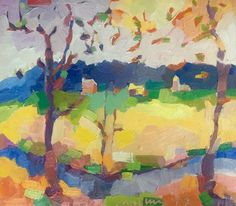 "A Bath County Farm in Autumn, oil on board , 14 x 16"""