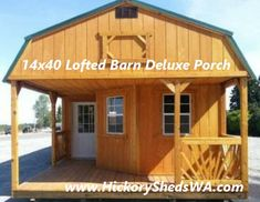 Old Hickory Sheds Deluxe Porch