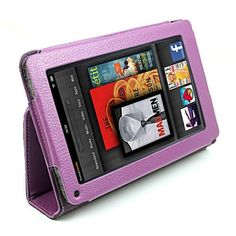 """KIQ (TM) Purple Portfolio Leather Case Cover for Amazon Kindle Fire 7"""" Tablet Ebook Reader built-in Stand by KIQ. $2.45. This leather case is specifically designed for the Kindle Fire.  Holds the Kindle Fire securely in place, while still allowing the user to access all the buttons, ports, and screen .  Velvet lining adds a soft touch and takes away any chance of scratching the back of the Kindle Fire.  Front cover can be converted into a kickstand to watch movies or a..."""