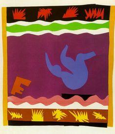 The Toboggan, 1943.  Henri Matisse - Jazz Book