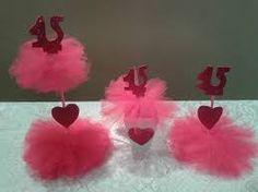 Resultado de imagem para centro de mesa para aniversario 15 anos
