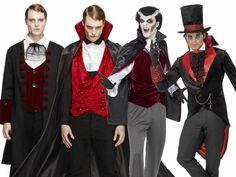 Adult Vampire Costume Halloween Dracula Horror Mens Fancy Dress Outfit M-XL Dracula Halloween Costume, Werewolf Costume, Vampire Costumes, Family Halloween Costumes, Doll Fancy Dress, Fancy Dress For Kids, Skeleton Fancy Dress, Halloween Fancy Dress, Vampire D