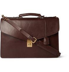 Lotuff Lock Bridle Leather Briefcase | MR PORTER