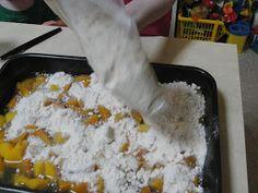 C Mom Cook: Super Easy Peach Cake (Cobbler)