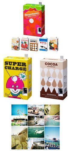 Cámara de cartón de zumo o leche