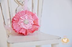 Pink flower lace headband babies toddlers by LittleHatchlings, $16.50