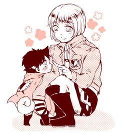 Puppy Eren and Armin // AoT