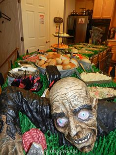 Hungry Happenings: Happy Halloween! Our zombie themed party was so much fun.